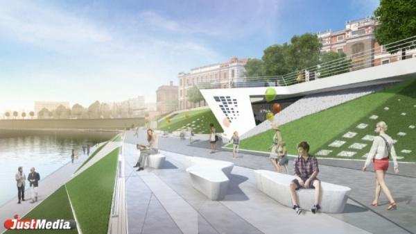 В Екатеринбурге на набережной Исети до конца сентября появятся новые скамейки