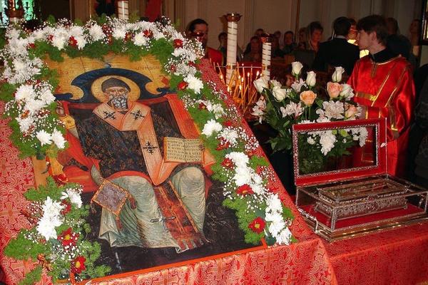 В Екатеринбурге пребудут мощи святителя Спиридона Тримифунтского