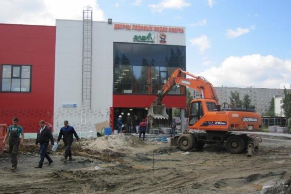 В медной столице Урала завершается строительство новой ледовой арены. ФОТО