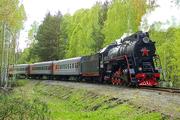 Ретро-поезд с паровозом ЛВ-0123. ФОТО: Антон Кислицин