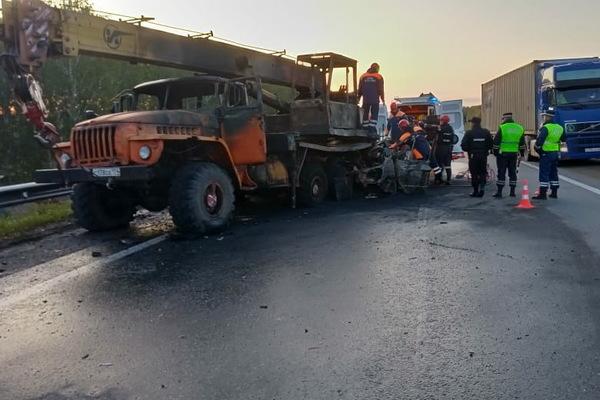 На Тюменском тракте сгорела «Газель» с пассажирами