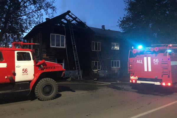 В Серове при эвакуации из горящего дома пять человек получили травмы