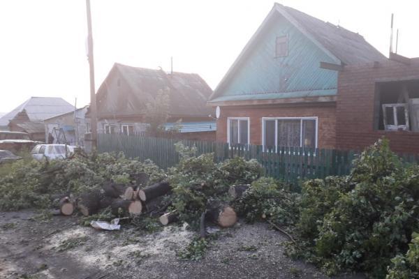 Ураган оставил свердловский муниципалитет без газа и электричества