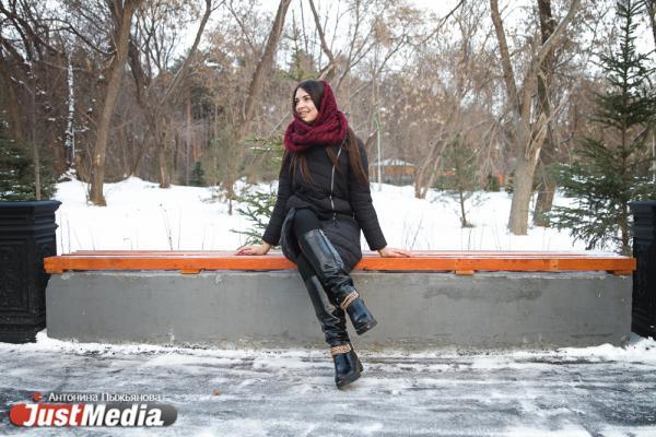Первая вице-мисс Екатеринбург-2020, Алина Галеева: «Посетив несколько городов России, я поняла, что только в городе Екатеринбург можно встретить настоящую зиму». В Екатеринбурге -8 градусов