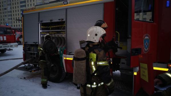 При пожаре в высотке на Белинского  пострадали два человека