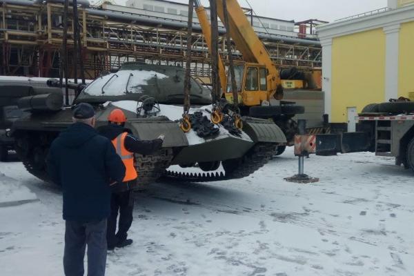 Музей военной техники УГМК пополнился тяжелым советским танком «Щука»